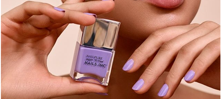 18% Off Nails.INC Student Discount - purple nails