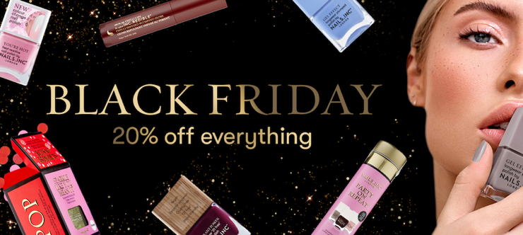 20% Off Nails Inc Black Friday Discount Banner