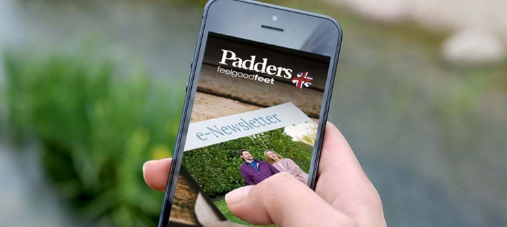 15% Off Padders Shoes - First Order Sign Up banner